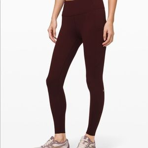 "Lululemon's fast and free HR Tight 28"" BRUSHED"